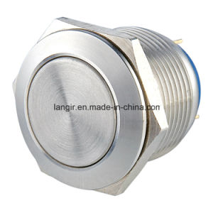 19mm Flat Head Momentary Pin Terminal Stainless Steel Push Button Switch pictures & photos