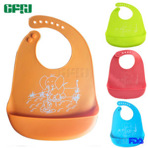 FDA/LFGB Approval Baby Wear Clothes Silicone Toddle Bib with Crumble Catcher pictures & photos