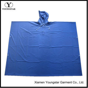 Promotional PVC Adult Square Rain Poncho / Rain Cape pictures & photos