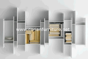 Wall Hung Corian Solid Surface Display Shelving pictures & photos
