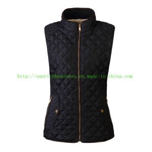 Women′s or Ladies Winter Qulited Padding Sleeveless Vest Jacket (FHL17003) pictures & photos