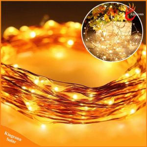 Colorful 100LED Solar Copper String Light Outdoor LED Christmas Tree Decoration Light for Garden Landscape Festival pictures & photos