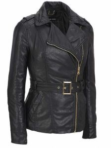 Women′s Fashion Cultivate One′s Morality PU Jacket pictures & photos