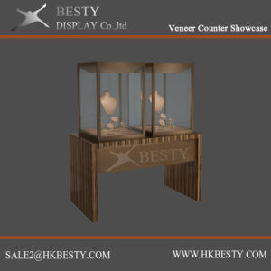Jewelry Metal Display Case with Veneer Finish pictures & photos
