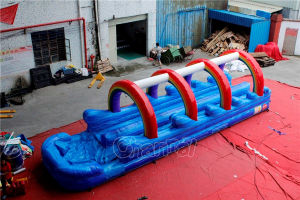 Rainbow Inflatable Double Slip and Slide with Pool Chsl660 pictures & photos
