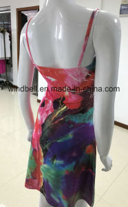 Womens Slip Dress with Garment Crumple and Sublimation Printing pictures & photos