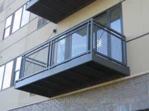 Exterior Railing Power Coat Balcony Balustrade pictures & photos