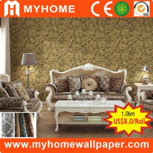 1.06m Wall Paper Distributor, PVC Vinyl Waterproof Wallpaper for Home Decoration pictures & photos