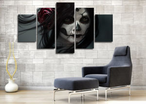 HD Printed Day of The Dead Face Group Painting Room Decor Print Poster Picture Canvas Decoration Mc-036 pictures & photos