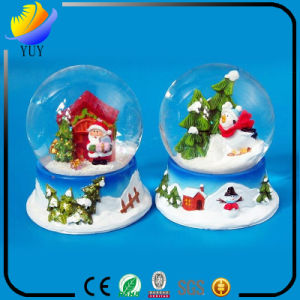 Christmas Gift Ideas Resin Handicrafts Snow Crystal Ball Music Box pictures & photos