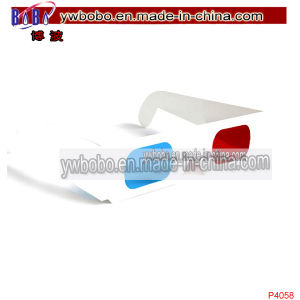 Party Glasses 3D Sunglasses Red Blue Paper Glasses (P4058) pictures & photos