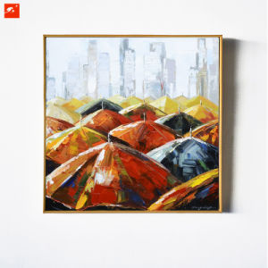 Umbrella Wall Art Street Scene Oil Painting pictures & photos
