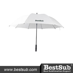 30 in. Sublimation Golf Umbrella (Self-Opening, White) pictures & photos
