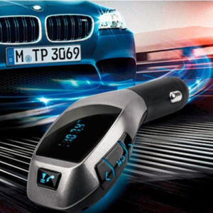 USB Flash Disk FM Transmitter Handsfree TF Card Bluetooth Car Kit Aux Streaming Car Adapter X5 Wireless Bluetooth Car Receiver pictures & photos