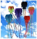 Wholesale New 5m Octopus Kite Spring Multicolor Children Kites