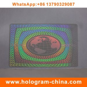 Security 3D Laser Transparent Hologram Film ID pictures & photos