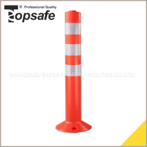 Orange Color PU Warning Post with 3PCS with Reflective Tape pictures & photos