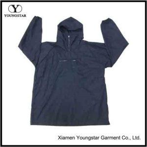 Dark Blue PVC Coating Waterproof Rain Wear / Rainwear pictures & photos