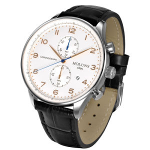 Simple Fashion Business Quartz Watch with Multifunctional Waterproof Sports Business Leather Strap Watch All Dial Working pictures & photos