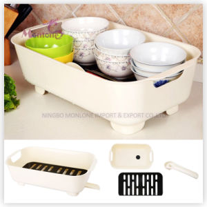 Food Grade PP Multi-Purpose Dish Drying Rack 43*13*25.5cm pictures & photos