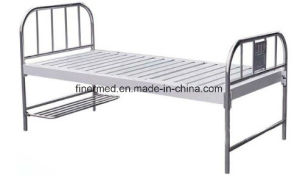 Stainless Steel Flat Hospital Bed with Shoe Board pictures & photos