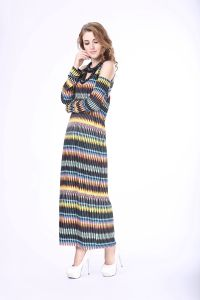 Latest Dress Design Woman Rainbow Colored Dresses pictures & photos