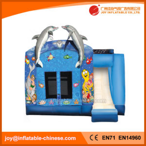 Inflatable Jumping Moonwalk Dolphin Combo with Slide (T3-101) pictures & photos