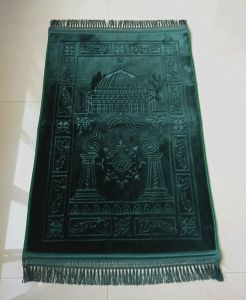 Singel Color Emboss Design Muslim Prayer Carpet