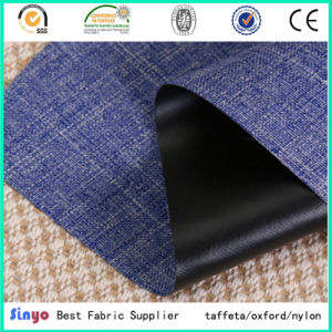 Popular Sold Black PVC Coated 600d Cation Yarn Textile Fabric Used for Backpack pictures & photos