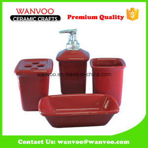 Hot Selling China Red Ceramic Bath Accessories for Bathroom Usage pictures & photos