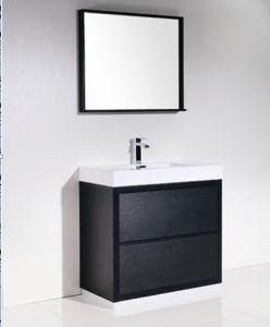 Simple Modern Black Melamine Bathroom Cabinet pictures & photos