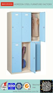 Outdoor High Quality Supermarket Furniture with 6 Doors Locker pictures & photos