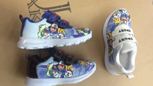 Sneaker Walking Shoes Classic Cartoon Style Emboss Printing for Kids pictures & photos