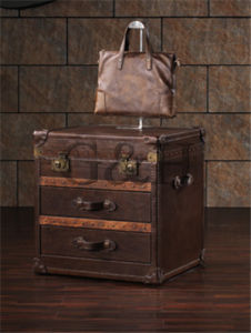 Leather Rectangular Storage Trunk pictures & photos
