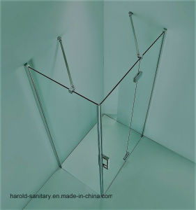 (HR-06) Adjustable Glass-to-Glass Hinge Open Shower Screen pictures & photos