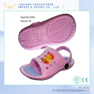 Pink Girl EVA Sandals with Cartoon Charms Upper Decoration pictures & photos