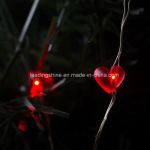 Battery Operated Waterproof 50 LED String Lights Red Heart 16.4FT Copper Wire Firefly Lights pictures & photos