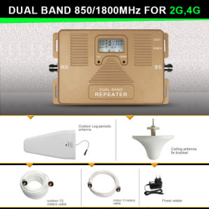 70dBi 2g 4G Signal Repeater 850/1800MHz Cell Phone Signal Booster pictures & photos