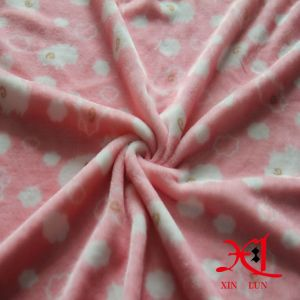 100% Polyester Flannel Fabric Comfortable and Cheap Fabric for Bedding/Pajamas pictures & photos