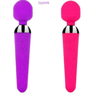 Wholesale USB Chargeable 10 Speeds G-Spot Magic Wand Massager Vibrator pictures & photos