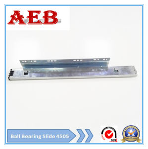 2017 Furniture Customized Cold Rolled Steel Three Knots Linear for Aeb4505-45mm Full Extension Ball Bearing Drawer Slide for Basket pictures & photos