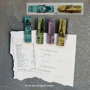 Shabby Chic Decorative Wood Refrigerator Clips pictures & photos