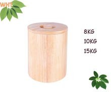8kg, 10kg, 15kg Rubber Wood Rice Bucket pictures & photos