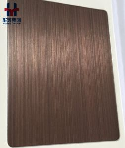 Bronze Hairline Stainless Steel Color Decorative Sheet and Plate Copper Coated pictures & photos