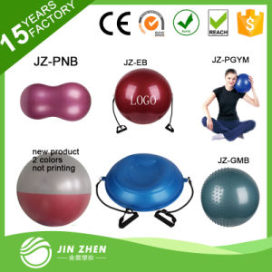 No6-2 Anti-Burst Yoga Ball Gym Exercise Fitness Ball with Resistance Tube
