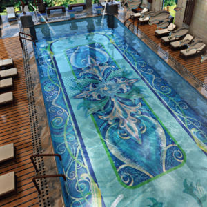 Pool Background Art Design Glass Mosaic pictures & photos