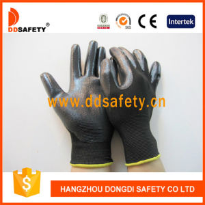 Ddsafety 2017 Black Nitrile Coating 13 Gauge Black Nylon Shell Working Glove pictures & photos