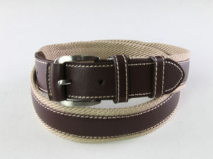 High Quality Men Cotton Braided Belt with Alloy Pin Buckle