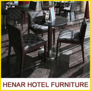 Star Hotel Restaurant Furniture Modern Black Dining Table and Cafe Chair pictures & photos
