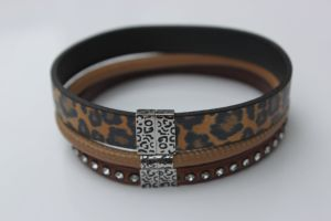 316L Mens Stainless Steel Jewelry Leather Bracelet Wholesale pictures & photos